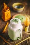 Green tea smoothie Royalty Free Stock Photo