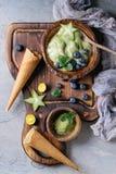 Green tea soft elastic ice cream Royalty Free Stock Image