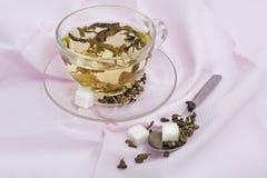 Green tea still-life Stock Images