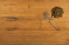 Green Tea with Strainer Stock Images