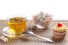 Green tea and sweetness Royalty Free Stock Image