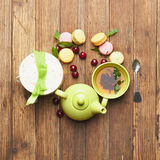 Green tea and sweets Royalty Free Stock Image
