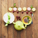 Green tea and sweets Royalty Free Stock Photography
