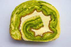 Green Tea Swiss Roll Cake Royalty Free Stock Images