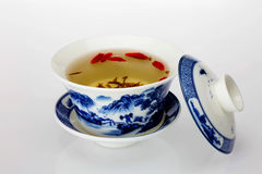 Green tea and tea cup Stock Photo