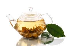 Green tea in a teapot Royalty Free Stock Photo