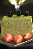 Green tea tiramisu Stock Photography
