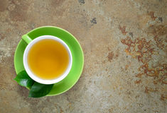 Green tea, top view Royalty Free Stock Photography