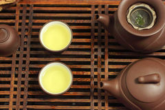 Green tea. Traditional Chinese custom drink tea Royalty Free Stock Images