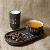 Green tea in ware Stock Photos