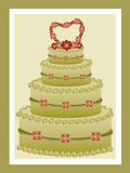 Green tea wedding cake royalty free stock photos