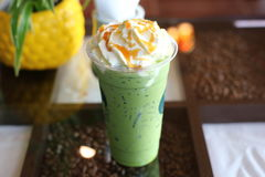 Green tea Whipped cream Royalty Free Stock Photography