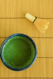 Green tea and whisk Royalty Free Stock Photos