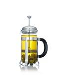 Green tea on white back Stock Image