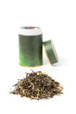 Green Tea With Can Royalty Free Stock Images