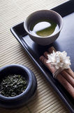 Green tea zen style Stock Photography