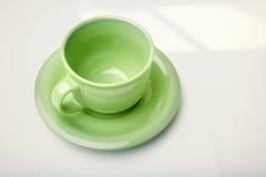 Green teacup Stock Photo