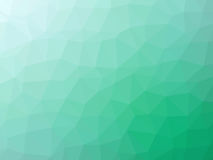 Green teal abstract gradient polygon shaped background.  Royalty Free Stock Photo