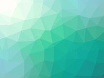 Green teal gradient abstract polygonal triangular background.  Stock Image