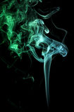 Green and teal smoke Royalty Free Stock Photography