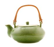 Green teapot Royalty Free Stock Images