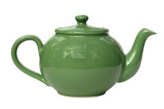 Green Teapot Stock Images