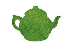 Green teapot Royalty Free Stock Photography