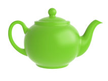 Green teapot isolated Royalty Free Stock Photos