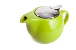 Green teapot Royalty Free Stock Photo