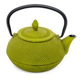 Chinese green teapot isolated on white background Royalty Free Stock Images