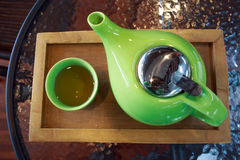 Green teapot Stock Image