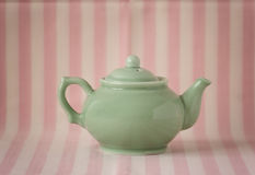 Green teapot Royalty Free Stock Photos