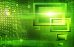 Green tech abstract background Stock Photography