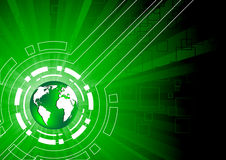 Green tech background. Clip-art Royalty Free Stock Image