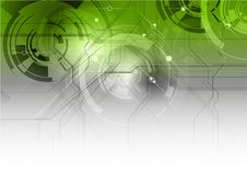Green tech background Royalty Free Stock Photos