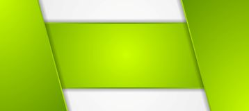 Green tech corporate banner design Stock Photography