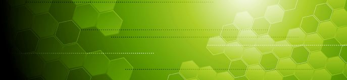 Green tech geometric abstract banner Stock Images