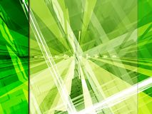Green tech layout. Green 3d tech layout with different uses vector illustration