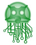Green tech mask Royalty Free Stock Photo