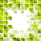 Green tech squares on white background Royalty Free Stock Photography