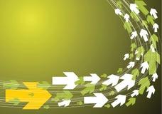 Green technical background vector illustration