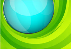 Green techno wave Royalty Free Stock Photography