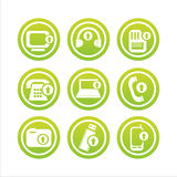Green technology with arrows signs Royalty Free Stock Image