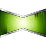 Green technology background with metal stripes Stock Image