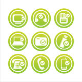 Green technology with checks signs Royalty Free Stock Image