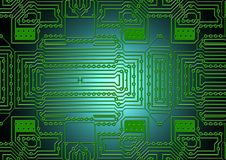 Green, Technology, Electronic Engineering, Electrical Network stock image