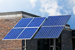 Green technology, solar panels. Royalty Free Stock Photos