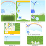 Green technology template Royalty Free Stock Images