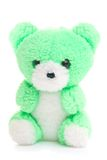 Green teddy bear royalty free stock image
