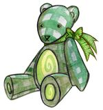 Green Teddy Bear Royalty Free Stock Photos